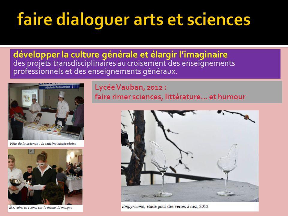 faire dialoguer arts et sciences
