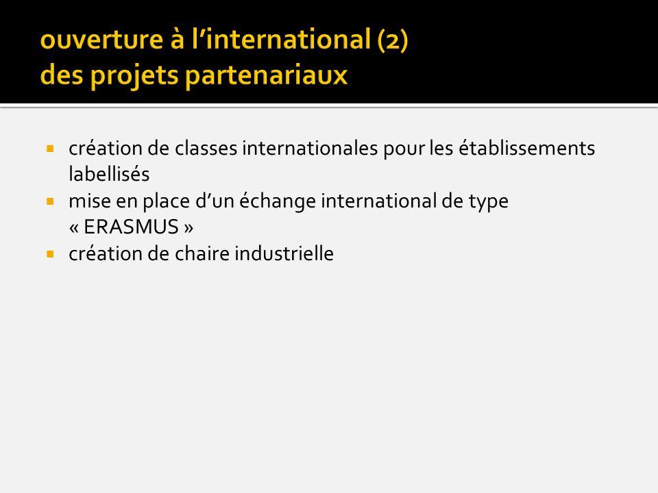 ouverture à l'international (2) des projets partenariaux