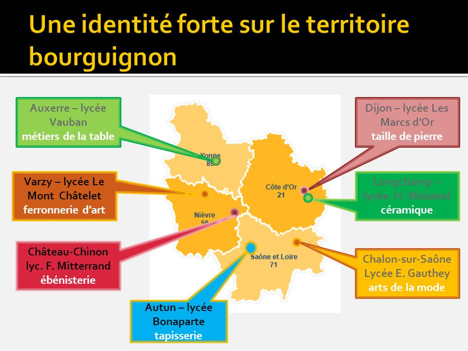 Une identité forte sur le territoire bourguignon