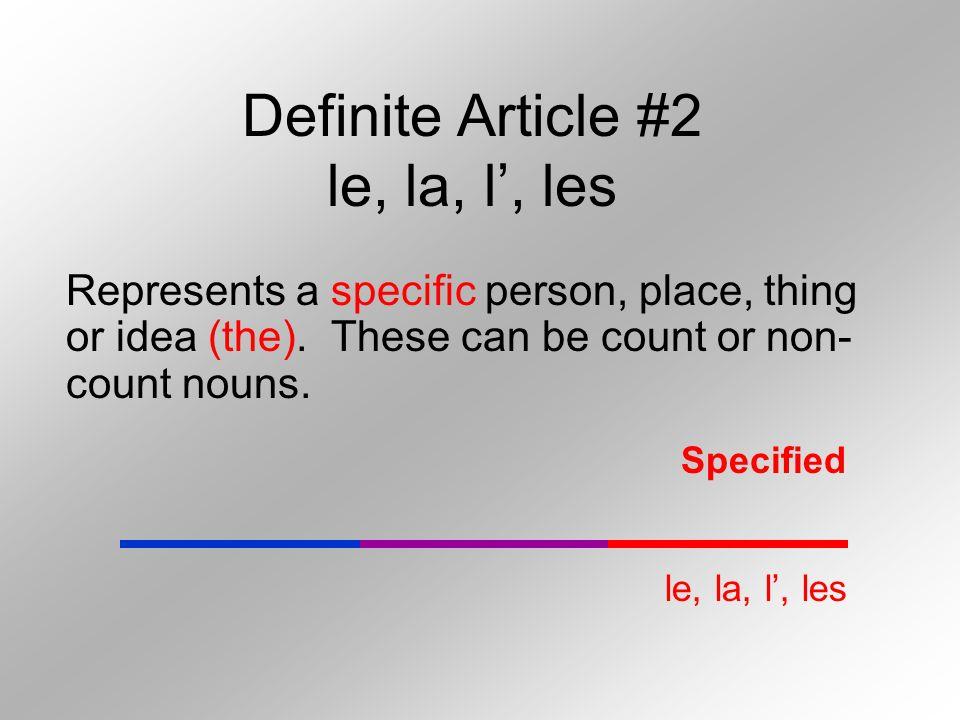 Definite Article #2 le, la, l', les