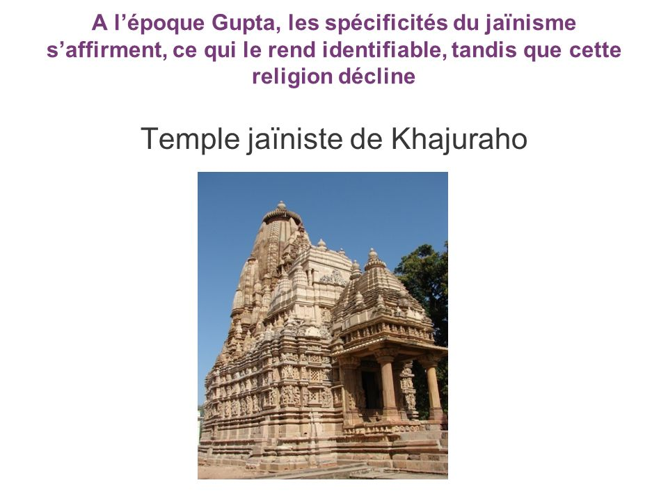 Temple jaïniste de Khajuraho