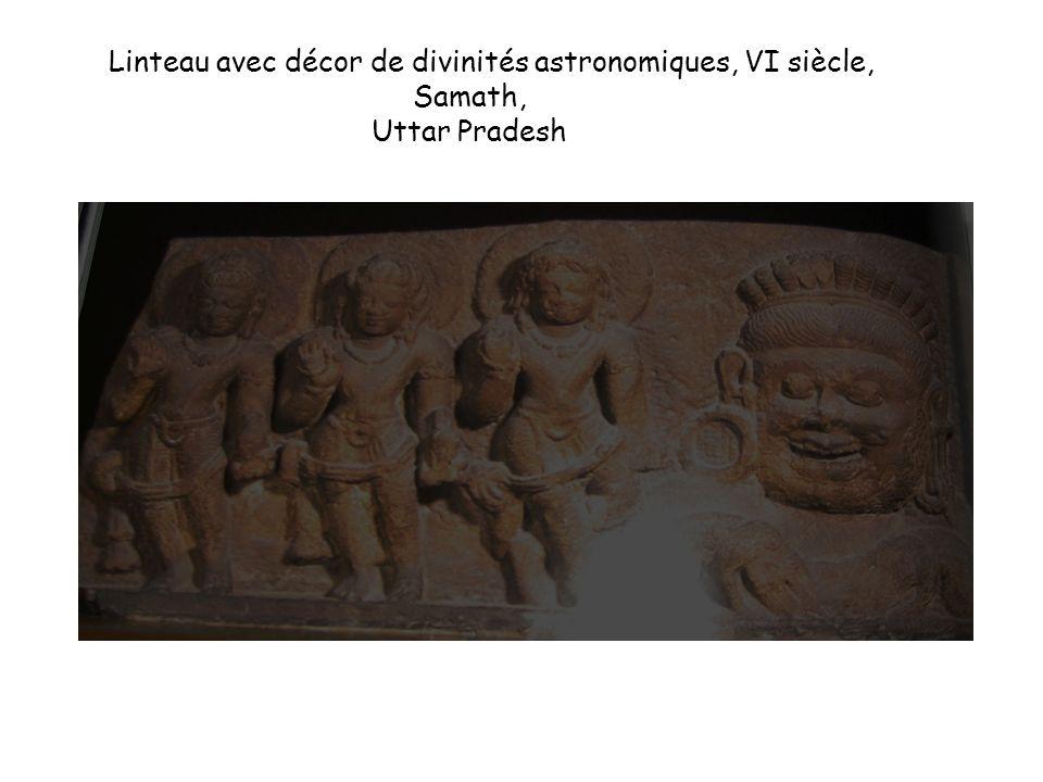 Linteau avec décor de divinités astronomiques, VI siècle, Samath, Uttar Pradesh
