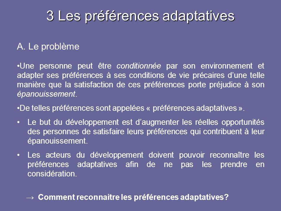3 Les préférences adaptatives