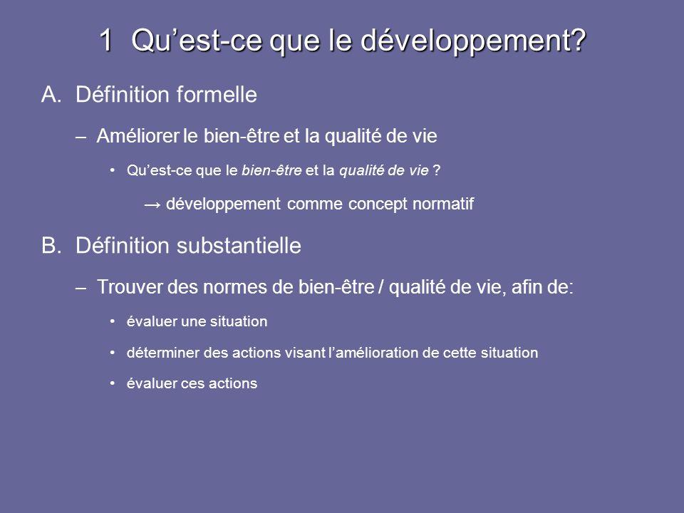 1 Qu'est-ce que le développement