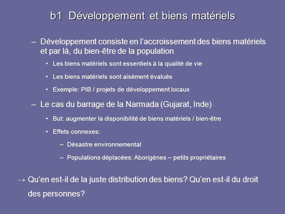 b1 Développement et biens matériels