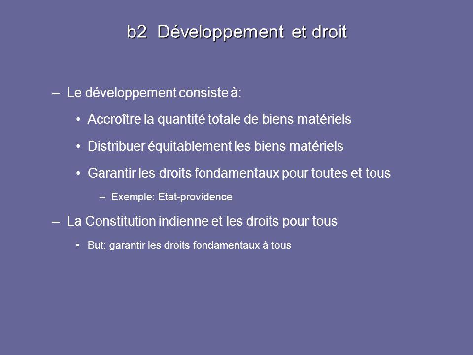 b2 Développement et droit