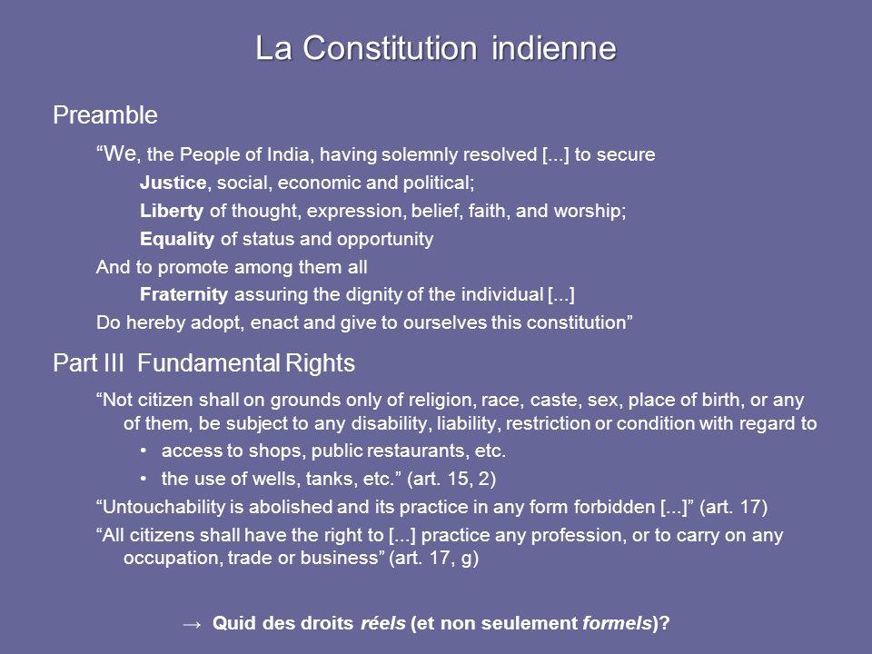 La Constitution indienne