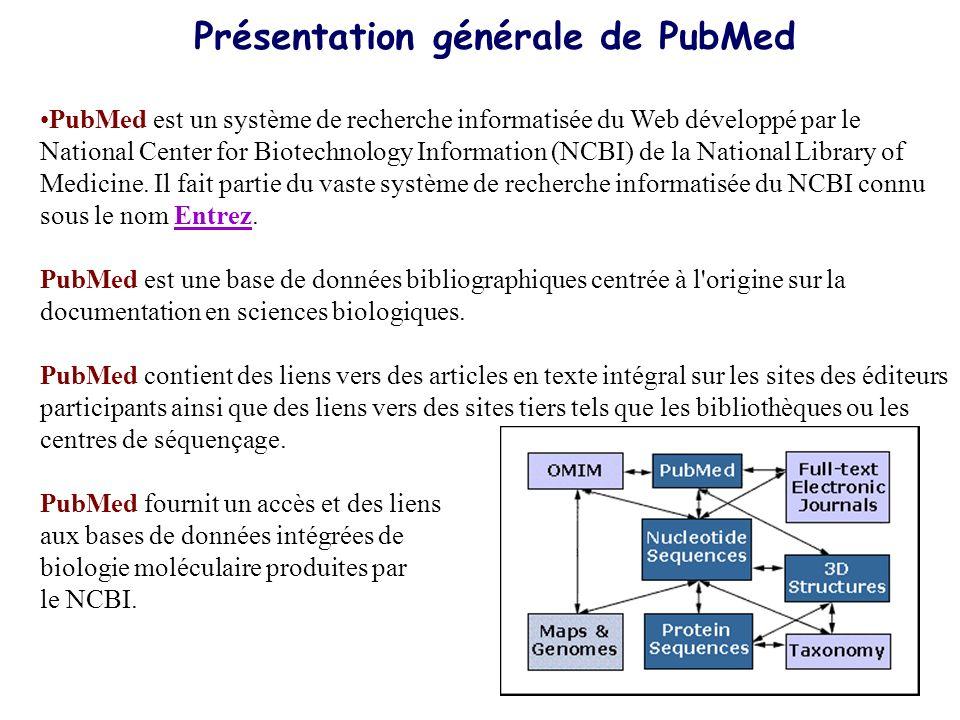 Présentation générale de PubMed