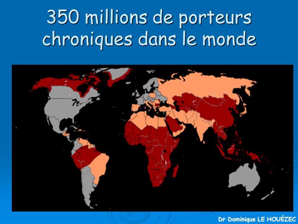 350 millions de porteurs chroniques dans le monde