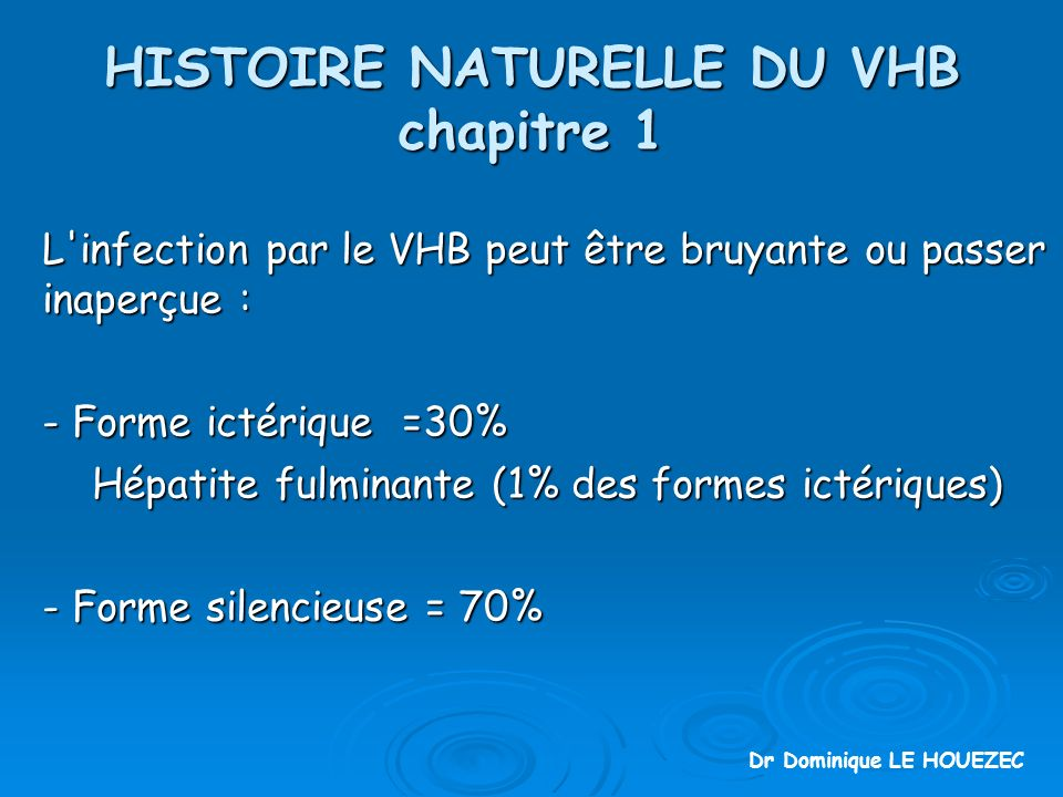 HISTOIRE NATURELLE DU VHB chapitre 1