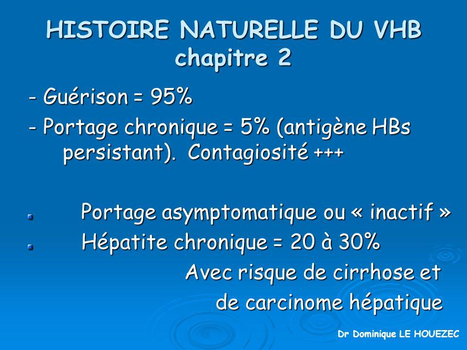 HISTOIRE NATURELLE DU VHB chapitre 2