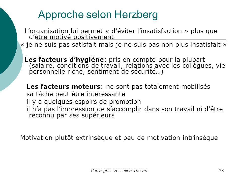 Approche selon Herzberg