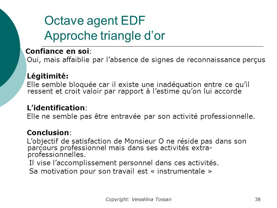 Octave agent EDF Approche triangle d'or