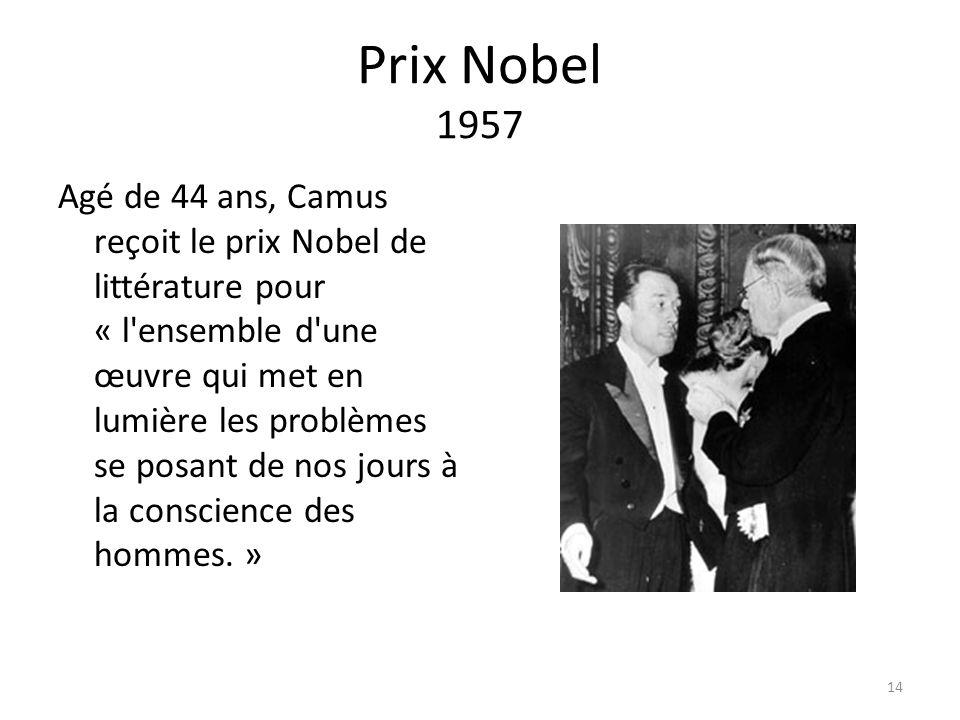 Prix Nobel 1957