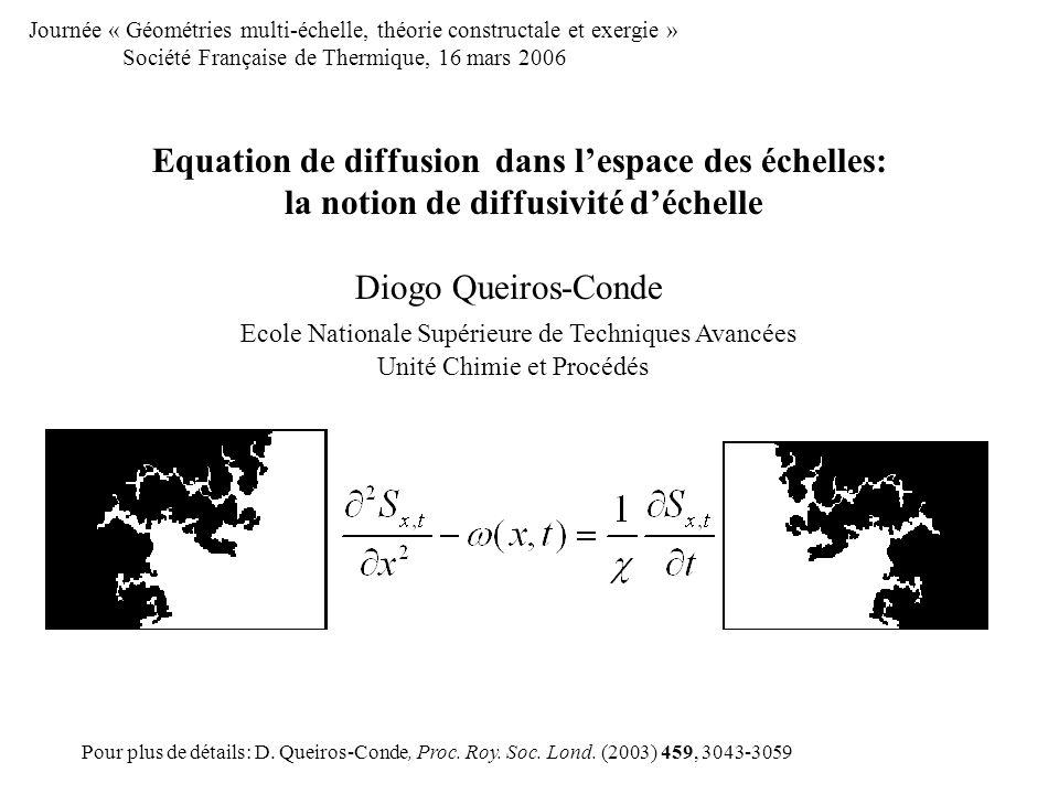 Equation de diffusion dans l'espace des échelles: