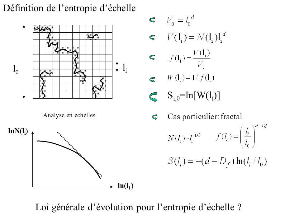 Définition de l'entropie d'échelle