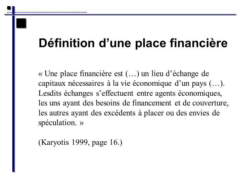 Définition d'une place financière