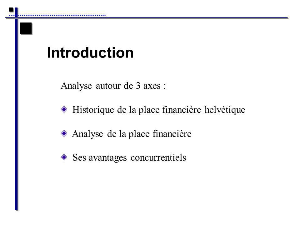 Introduction Analyse autour de 3 axes :