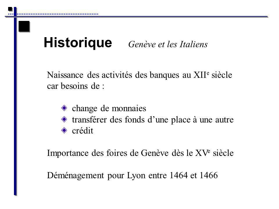Historique Genève et les Italiens