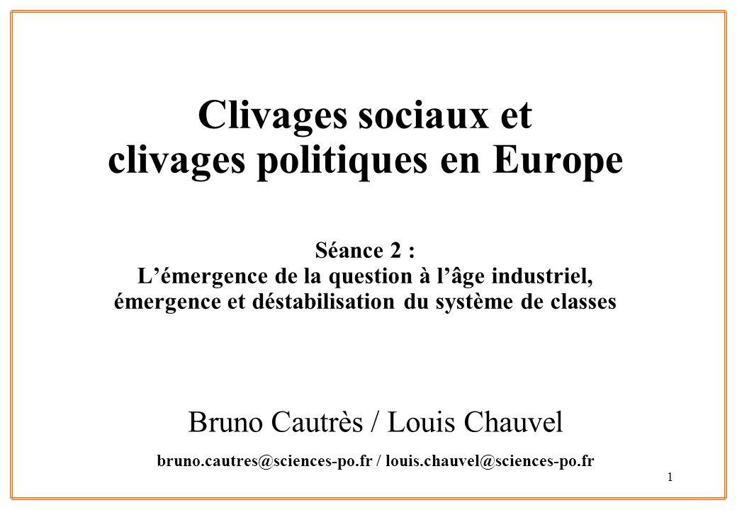 Clivages sociaux et clivages politiques en Europe