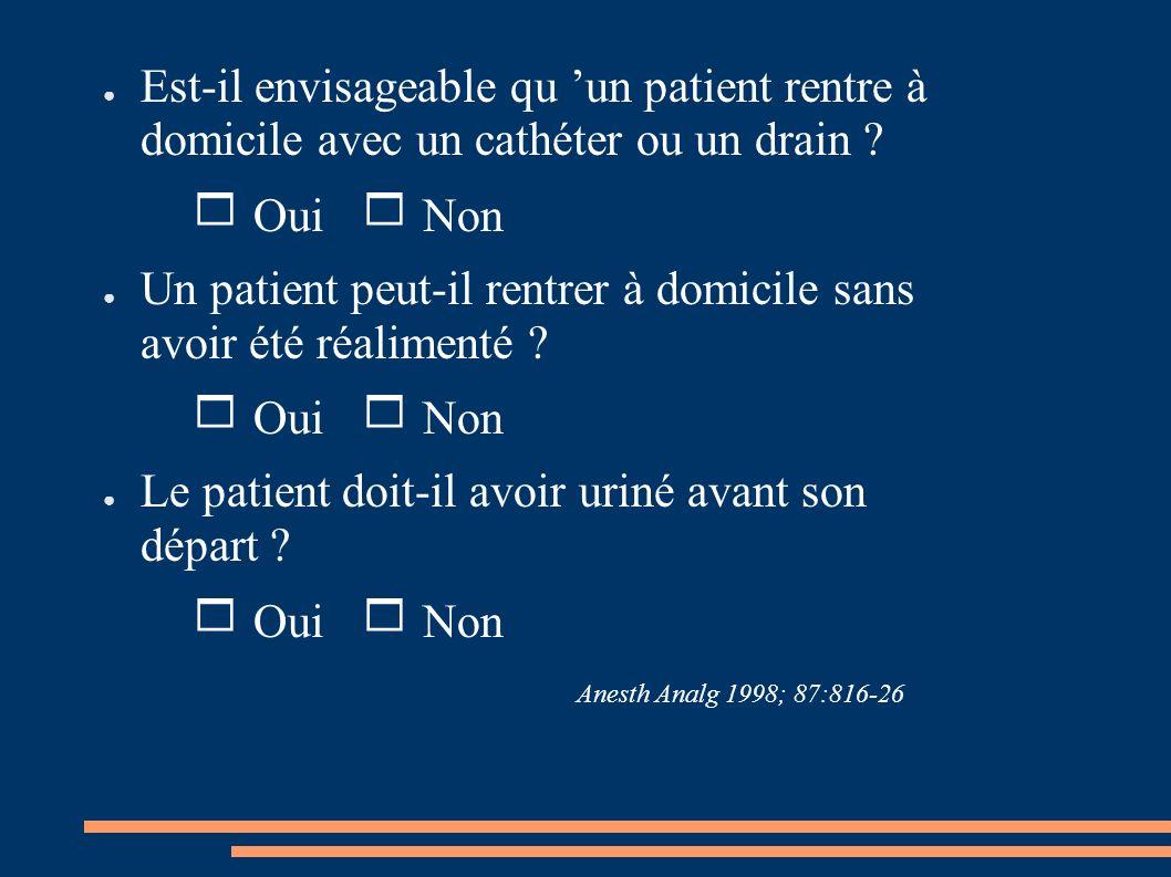 Un patient peut-il rentrer à domicile sans avoir été réalimenté