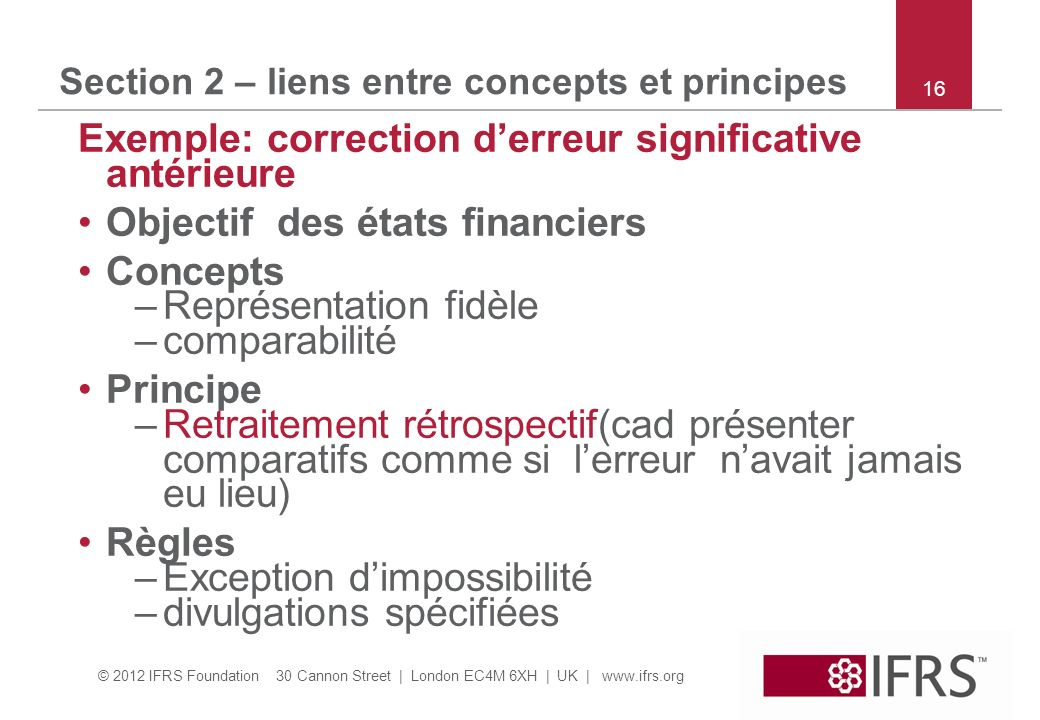 Section 2 – liens entre concepts et principes