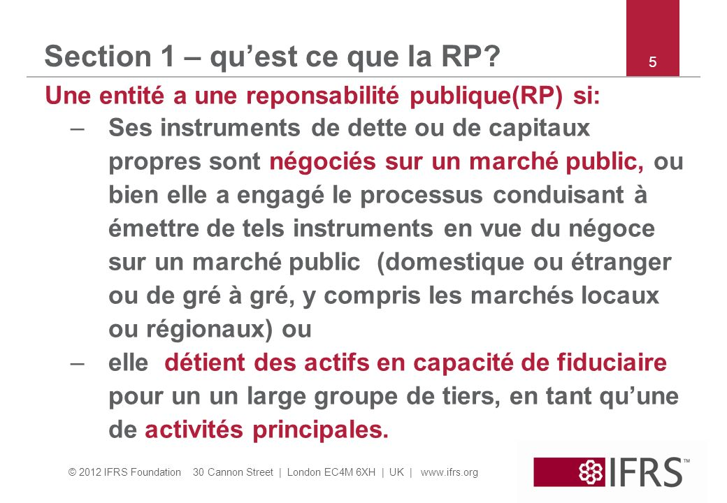 Section 1 – qu'est ce que la RP