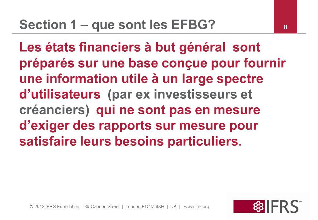 Section 1 – que sont les EFBG