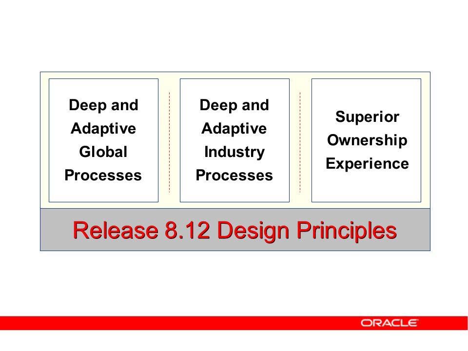Release 8.12 Design Principles