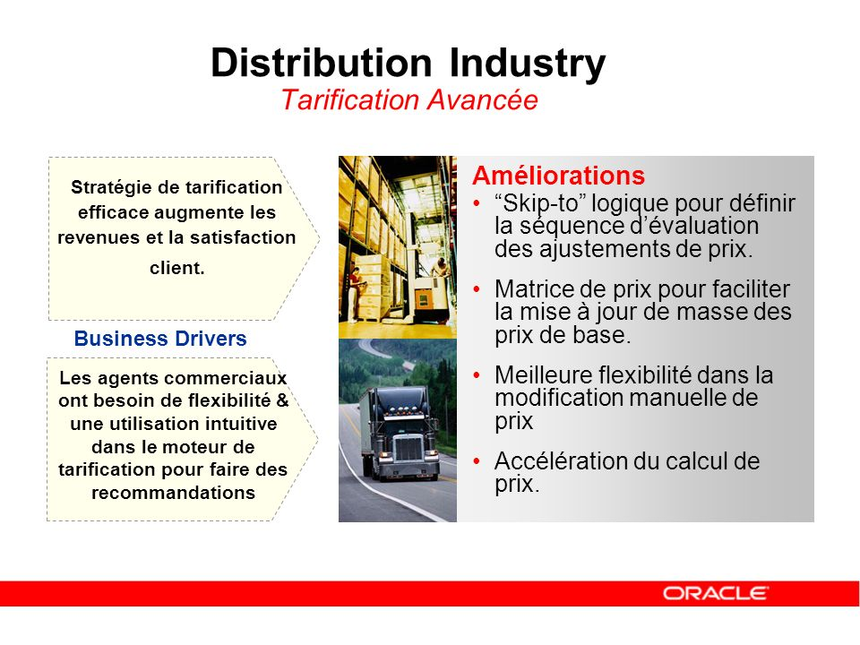 Distribution Industry Tarification Avancée