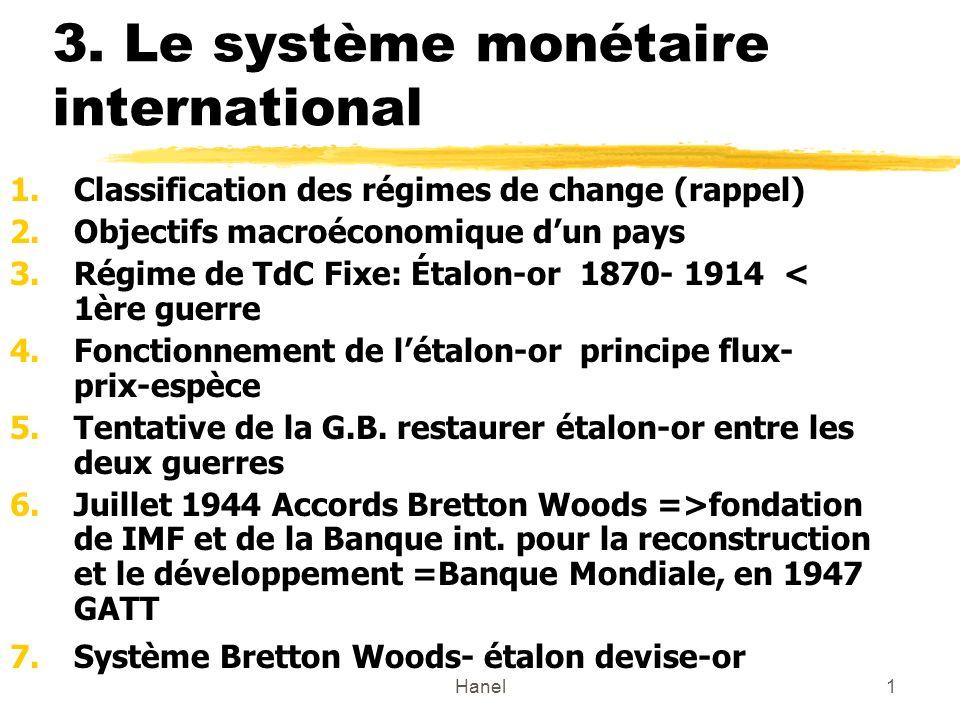 3. Le système monétaire international