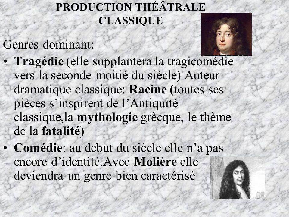 PRODUCTION THÉÂTRALE CLASSIQUE