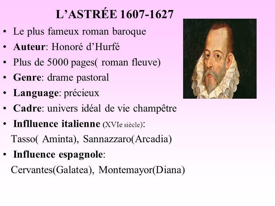 L'ASTRÉE 1607-1627 Le plus fameux roman baroque Auteur: Honoré d'Hurfé