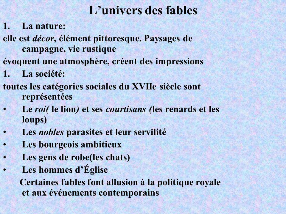 L'univers des fables La nature: