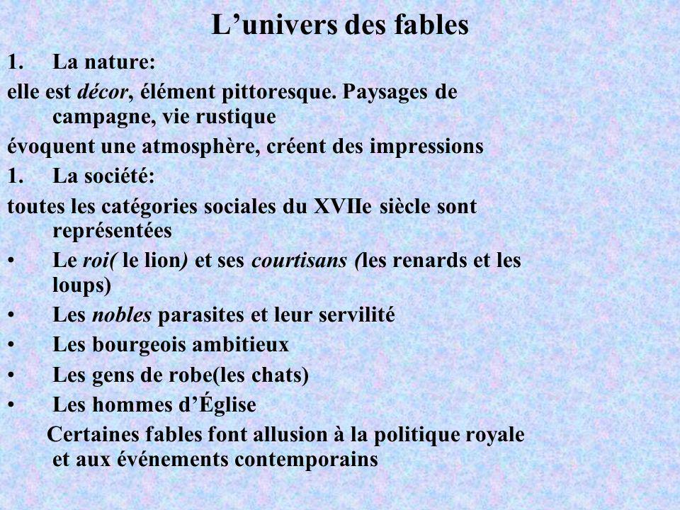 L'univers des fables La nature: