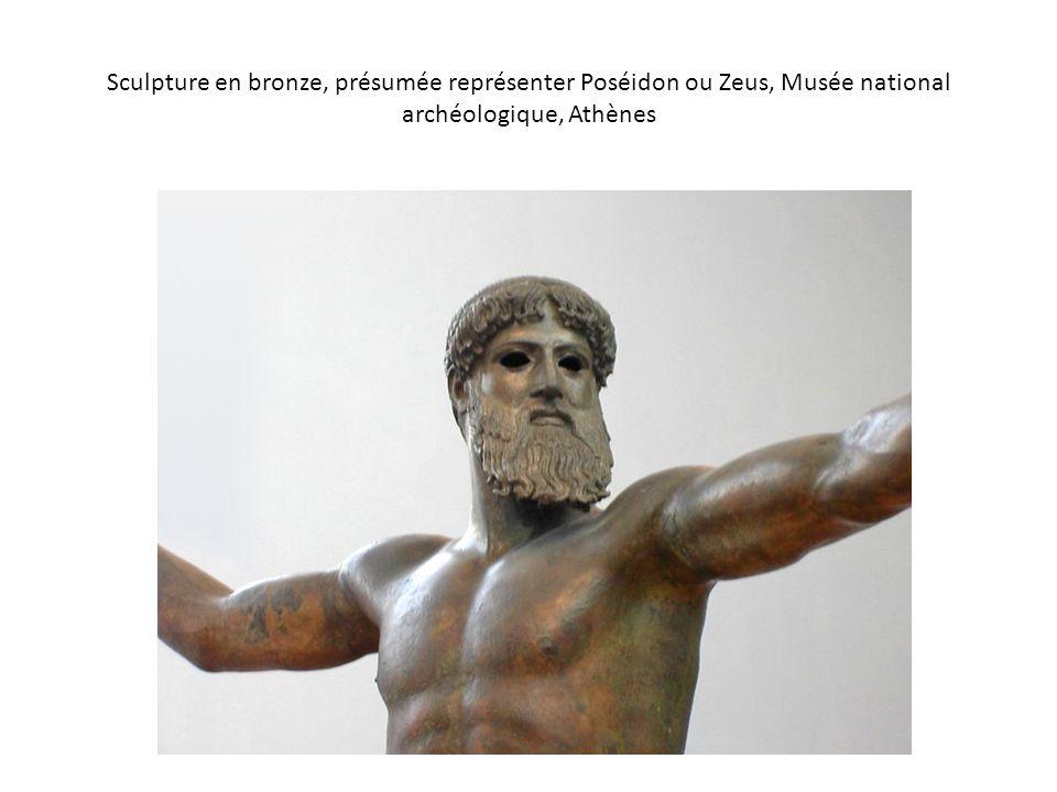 Sculpture en bronze, présumée représenter Poséidon ou Zeus, Musée national archéologique, Athènes