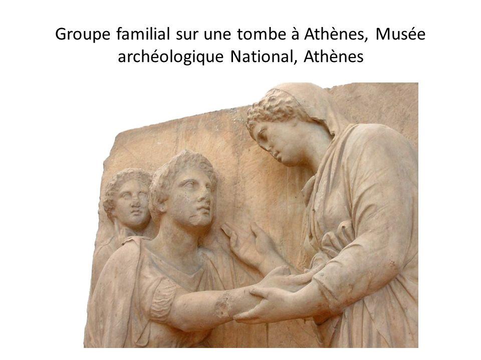 Groupe familial sur une tombe à Athènes, Musée archéologique National, Athènes