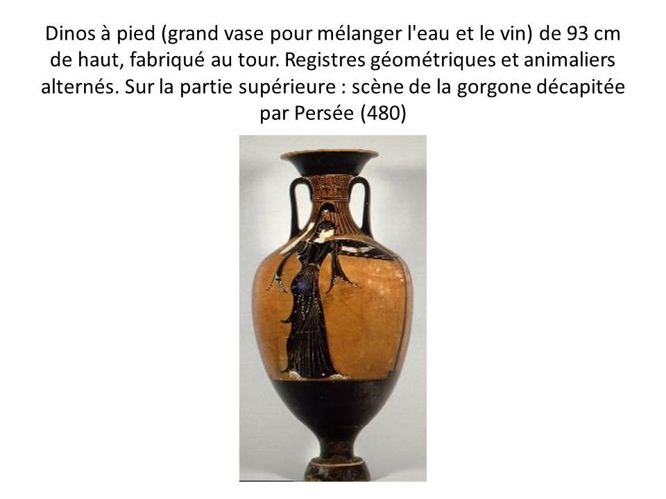 Dinos à pied (grand vase pour mélanger l eau et le vin) de 93 cm de haut, fabriqué au tour.
