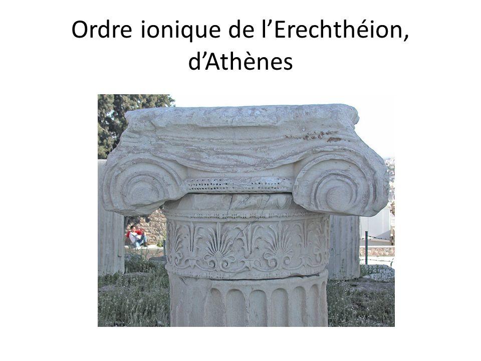 Ordre ionique de l'Erechthéion, d'Athènes