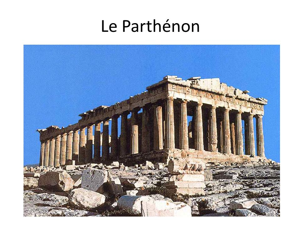 le temple grec of architecture grecque