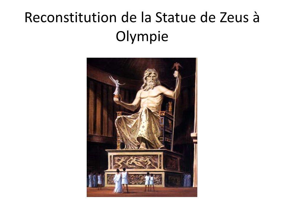 Reconstitution de la Statue de Zeus à Olympie