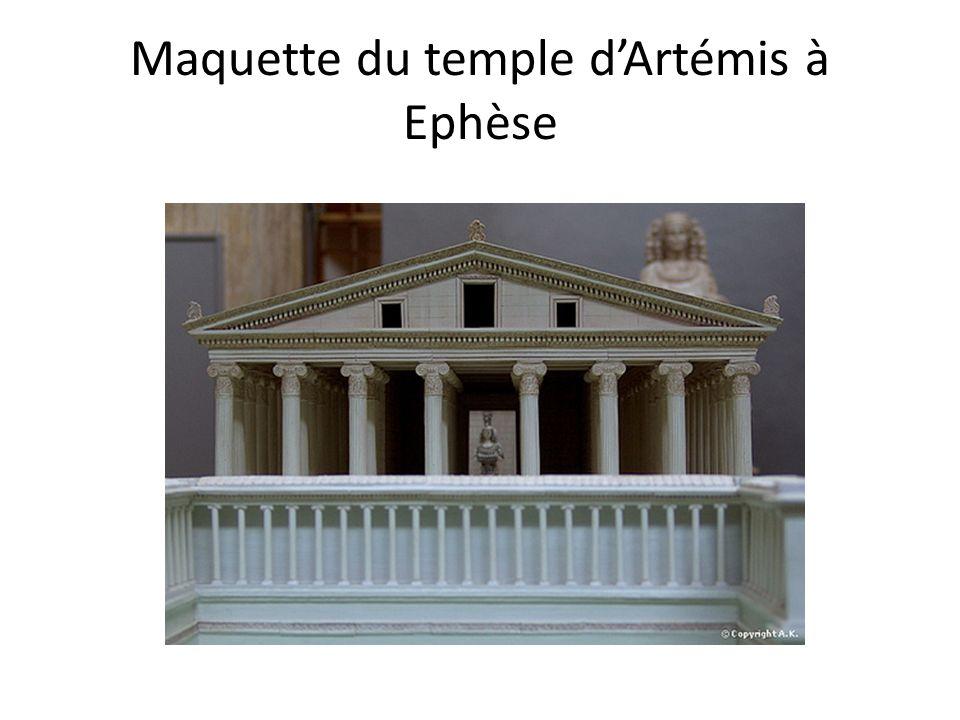 Maquette du temple d'Artémis à Ephèse