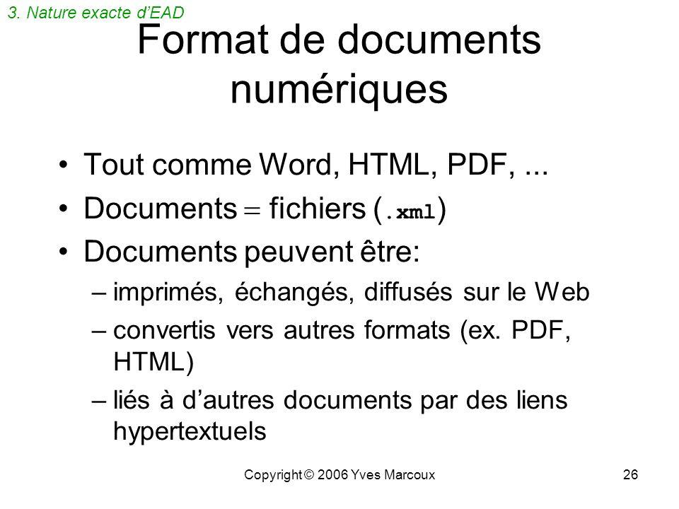 Format de documents numériques