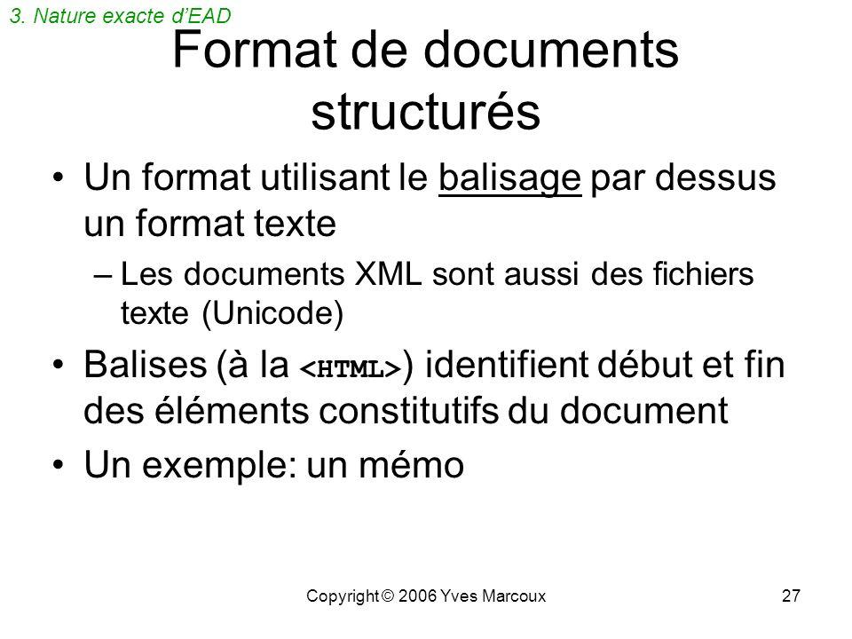 Format de documents structurés