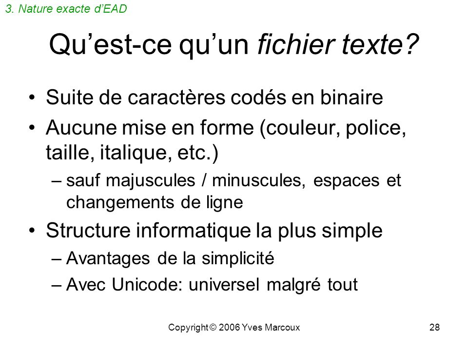 Qu'est-ce qu'un fichier texte