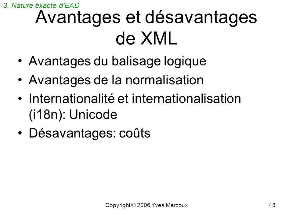 Avantages et désavantages de XML