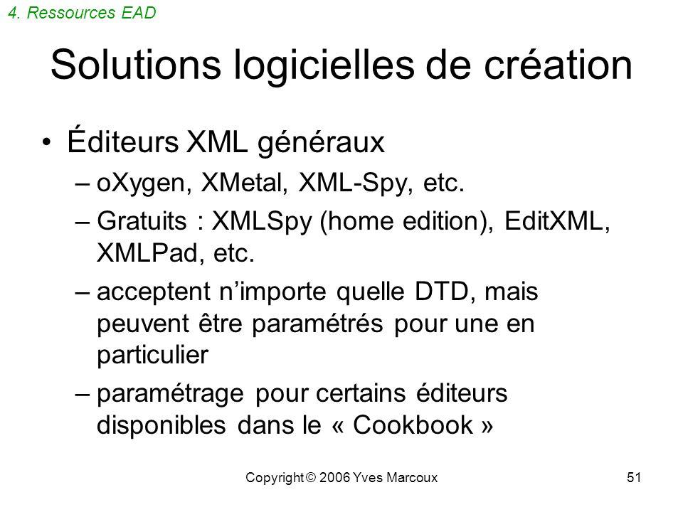 Solutions logicielles de création