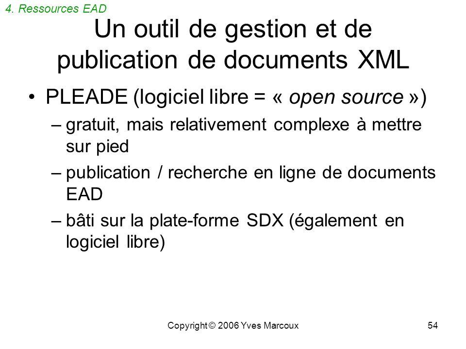 Un outil de gestion et de publication de documents XML