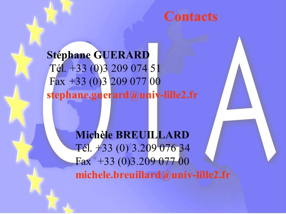 Contacts Stéphane GUERARD Tél. +33 (0)3 209 074 51
