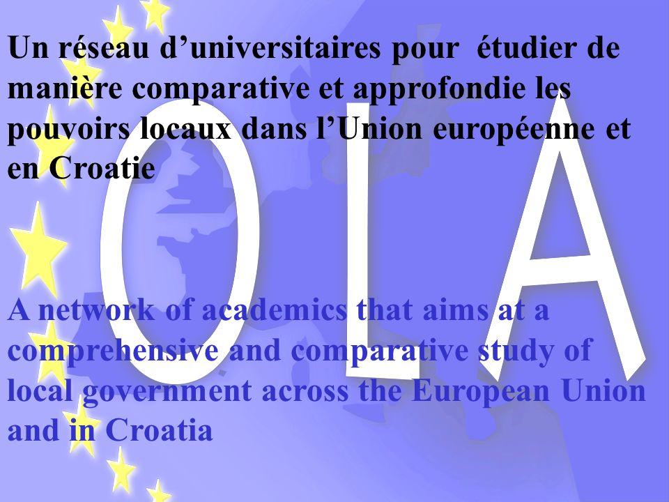 Un réseau d'universitaires pour étudier de manière comparative et approfondie les pouvoirs locaux dans l'Union européenne et en Croatie